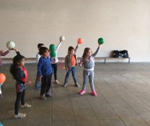 Activité Handball pour les maternelles